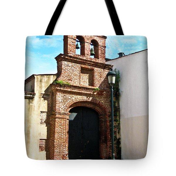 Streetlight Bells and Cross Tote Bag by Douglas Barnett