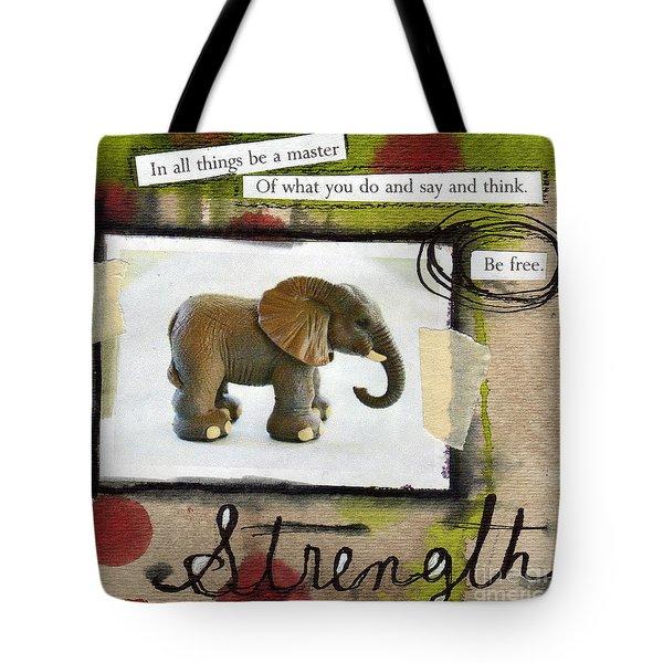 Strength Tote Bag by Linda Woods