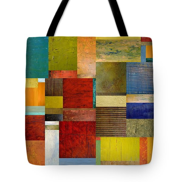 Strips and Pieces l Tote Bag by Michelle Calkins