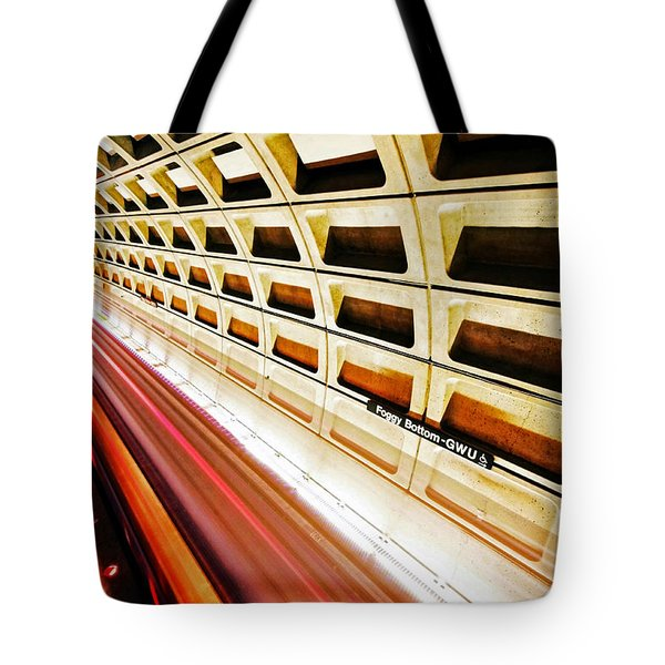 Stronger in the Contrast Tote Bag by Mitch Cat