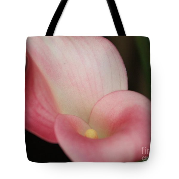 Subtle Calla Lily Tote Bag by Carol Groenen