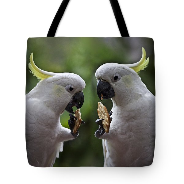 Sulphur Crested Cockatoo Pair Tote Bag by Sheila Smart