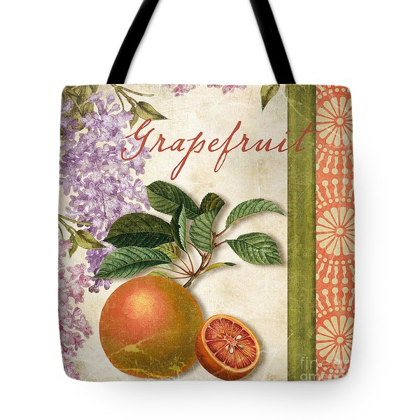 Summer Citrus Grapefruit Tote Bag by Mindy Sommers