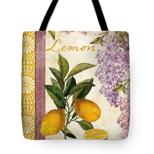 Summer Citrus Lemon Tote Bag by Mindy Sommers