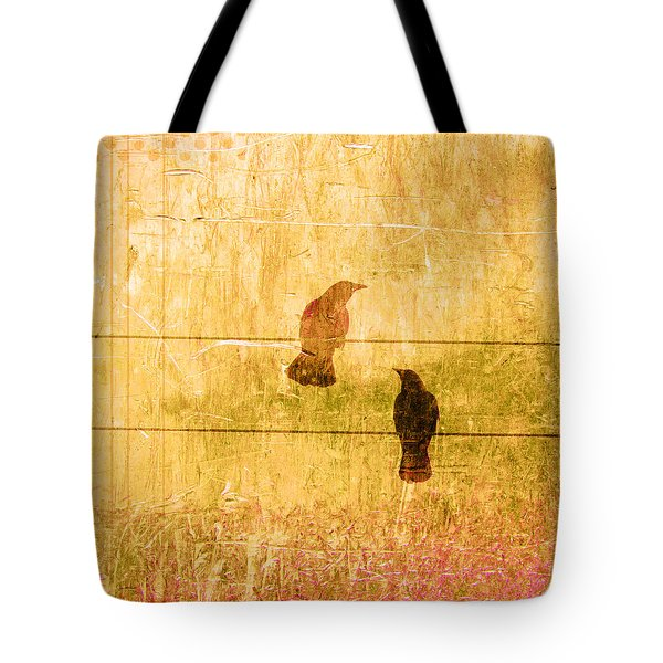 Summer Crows Tote Bag by Carol Leigh
