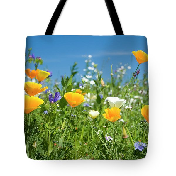 Summer Flowers Tote Bag by Sophie De Roumanie
