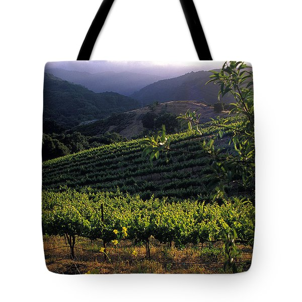 Summer Vineyard Tote Bag by Kathy Yates
