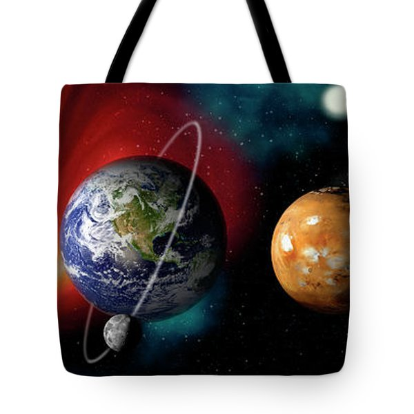 Sun And Planets Tote Bag by Panoramic Images