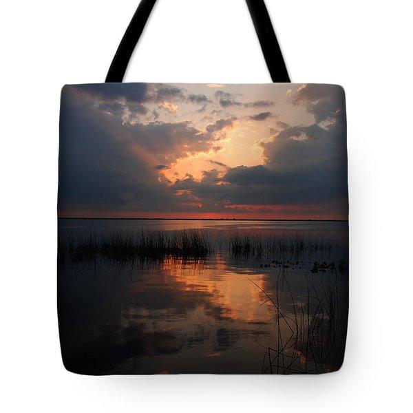 Sun Behind The Clouds Tote Bag by Susanne Van Hulst