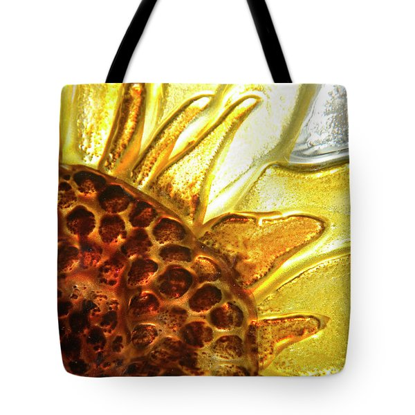 Sunburst Sunflower Tote Bag by Jerry McElroy