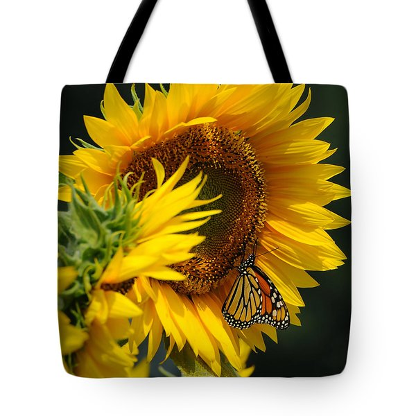 Sunflower and Monarch 3 Tote Bag by Edward Sobuta