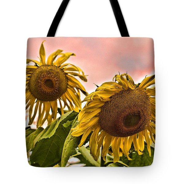 Sunflower Art 1 Tote Bag by Edward Sobuta