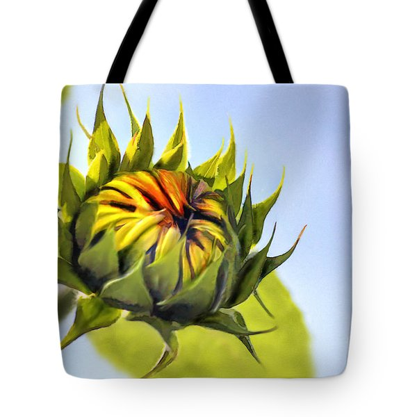 Sunflower Bud Tote Bag by John Edwards