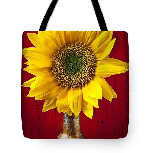 Sunflower Close Up Tote Bag by Garry Gay