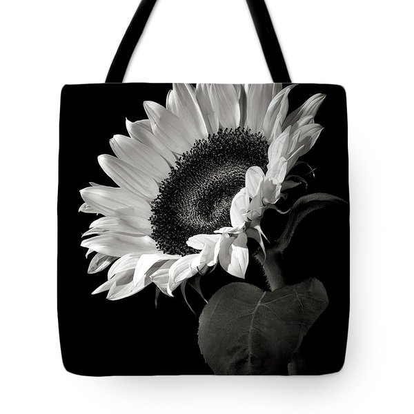 Sunflower In Black And White Tote Bag by Endre Balogh