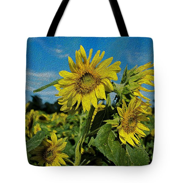 SunFlower Tote Bag by Lucinda  M Wickham
