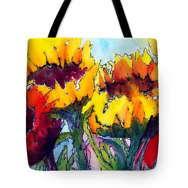 Sunflower Serenade Tote Bag by Anne Duke