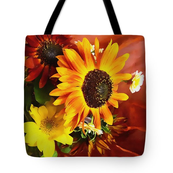 Sunflower Strong Tote Bag by Kathy Bassett