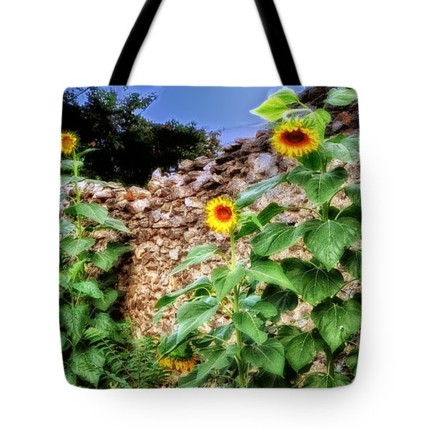 Sunflower Wall Tote Bag by Bill Cannon