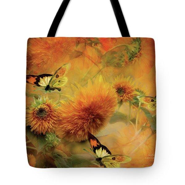 Sunflowers Tote Bag by Carol Cavalaris