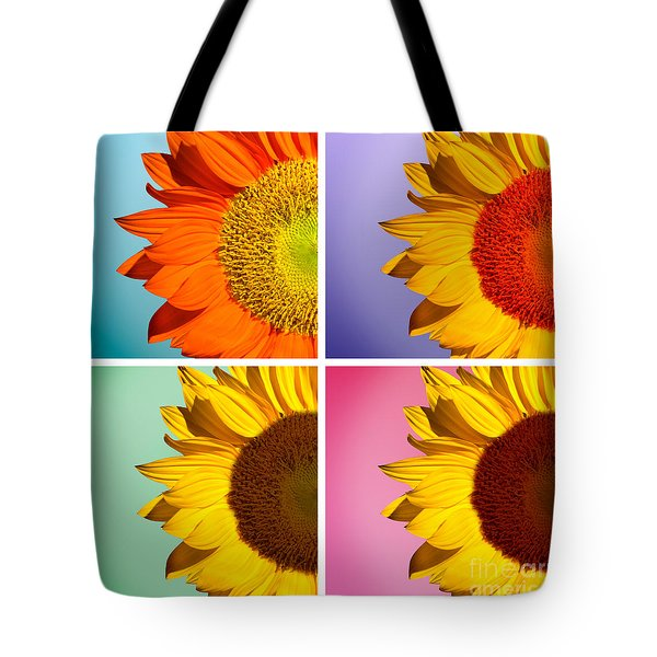 Sunflowers Collage Tote Bag by Mark Ashkenazi