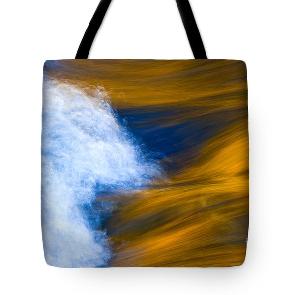 Sunlight On Flowing River Tote Bag by Bill Brennan - Printscapes