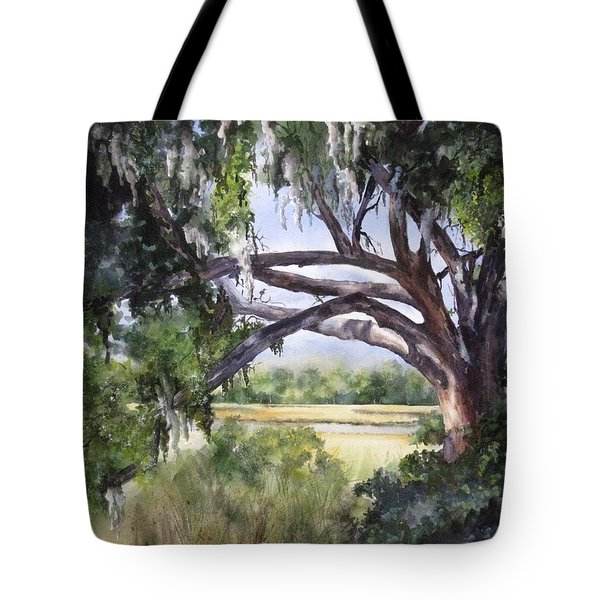 Sunlit Marsh Tote Bag by Mary McCullah
