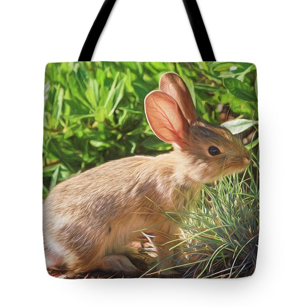 Sunny Bunny Tote Bag by Donna Kennedy