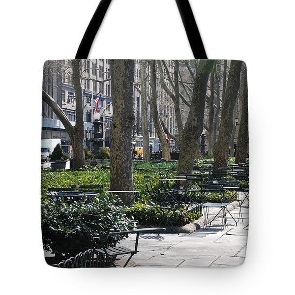 Sunny Morning In The Park Tote Bag by Rob Hans