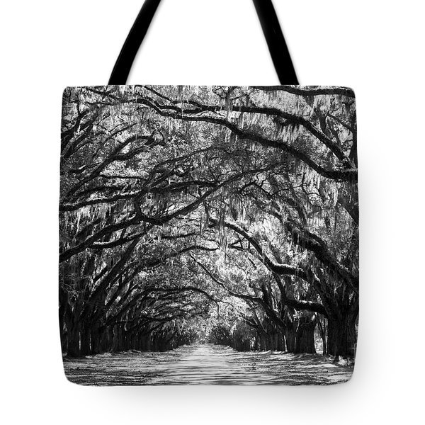 Sunny Southern Day - Black and White Tote Bag by Carol Groenen
