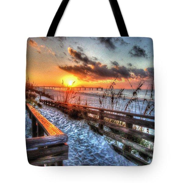 Sunrise At Cotton Bayou  Tote Bag by Michael Thomas