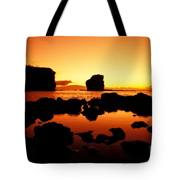 Sunrise At Puu Pehe Tote Bag by Ron Dahlquist - Printscapes