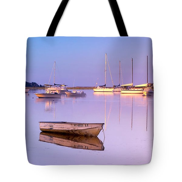 Sunrise At West Bay Osterville Cape Cod Tote Bag by Matt Suess
