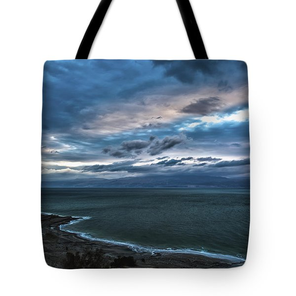 Sunrise Over The Dead Sea Israel Tote Bag by Reynold Maines