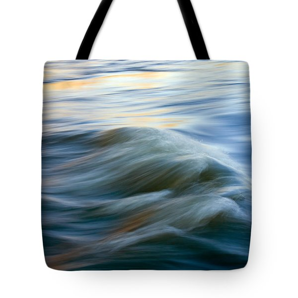 Sunrise Ripple Tote Bag by Mike  Dawson