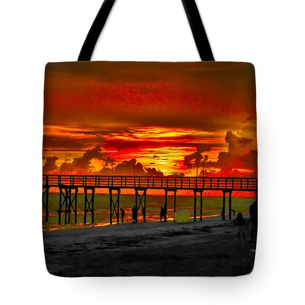 Sunset 4th of July Tote Bag by Bill Cannon