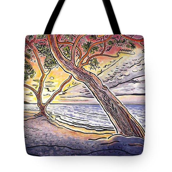 Sunset At Anaehoomalu Bay Tote Bag by Fay Biegun - Printscapes