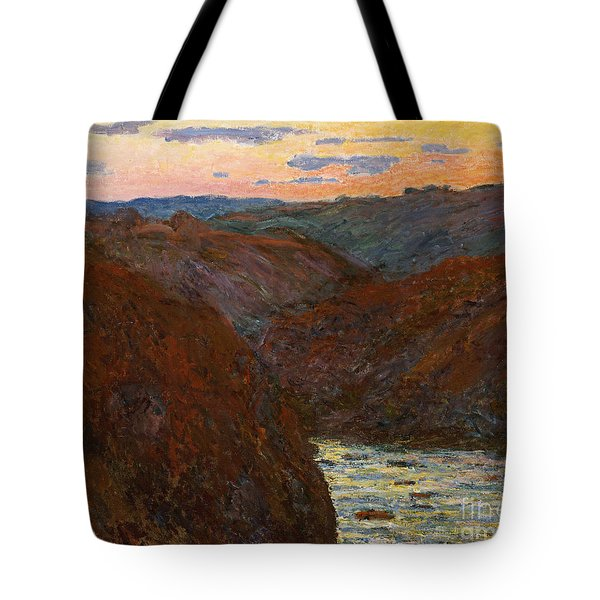 Sunset Tote Bag by Claude Monet