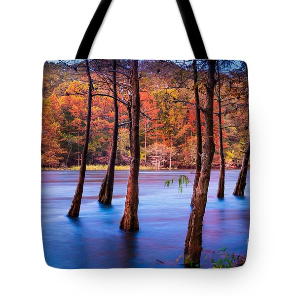Sunset Cypresses Tote Bag by Inge Johnsson