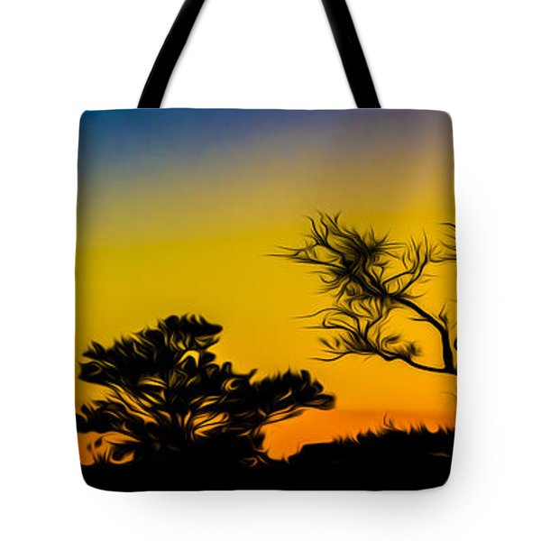 Sunset Fantasy Tote Bag by Debra and Dave Vanderlaan