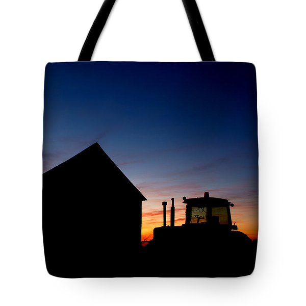 Sunset On The Farm Tote Bag by Cale Best