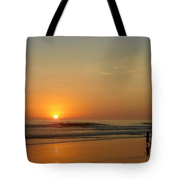 Sunset over La Jolla Shores Tote Bag by Christine Till