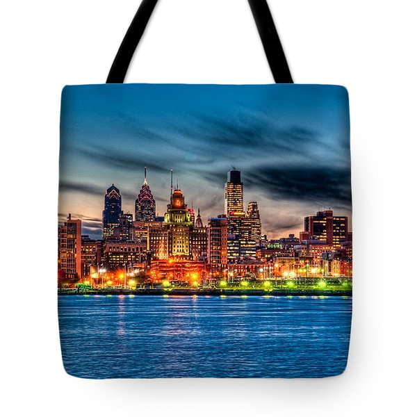 Sunset Over Philadelphia Tote Bag by Louis Dallara