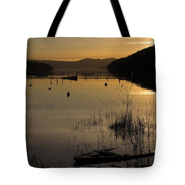 Sunset Over The Lake Tote Bag by Carole Lloyd