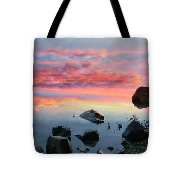 Sunset Reflection Tote Bag by Marcia Lee Jones