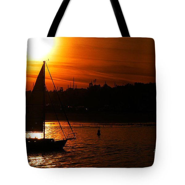 Sunset Sailing Tote Bag by Clayton Bruster
