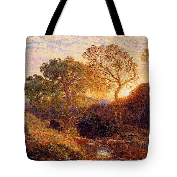 Sunset Tote Bag by Samuel Palmer