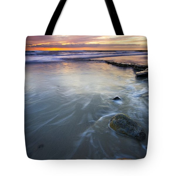 Sunset Storm Tote Bag by Mike  Dawson