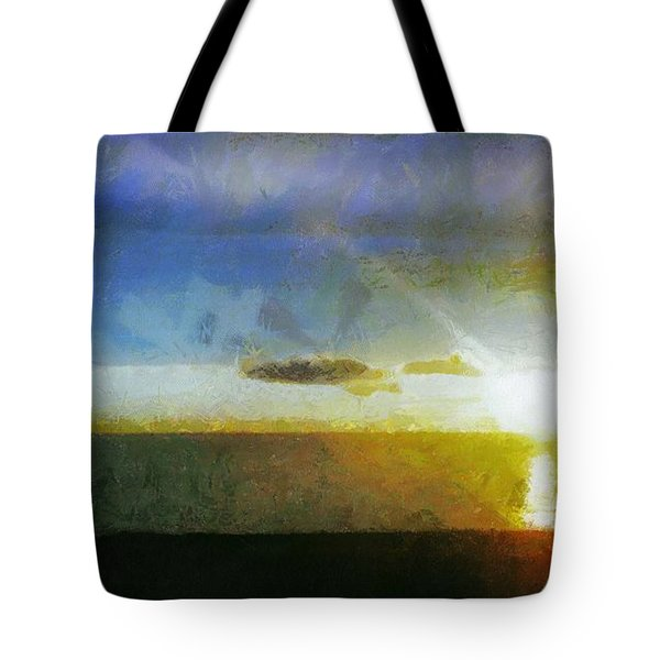 Sunset Under The Clouds Tote Bag by Jeff Kolker