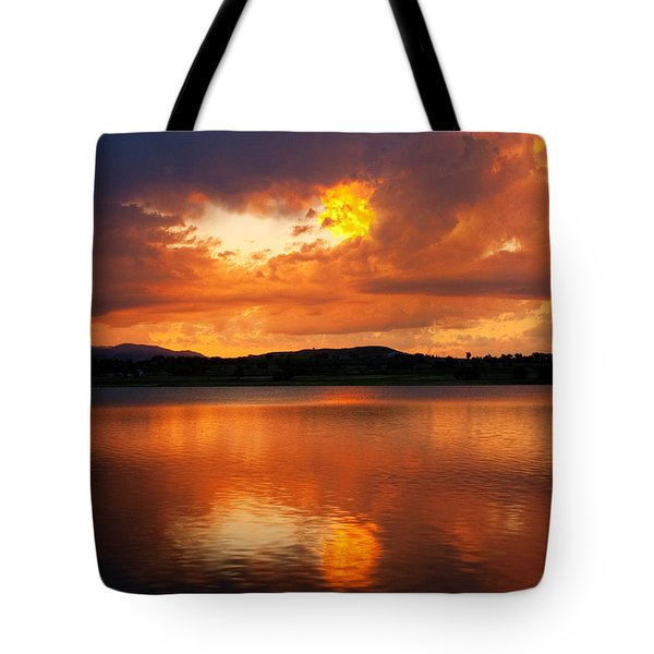 Sunset With a Golden Nugget Tote Bag by James BO  Insogna